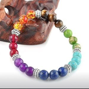 7 Chakra Reika Healing Stretch Bracelet